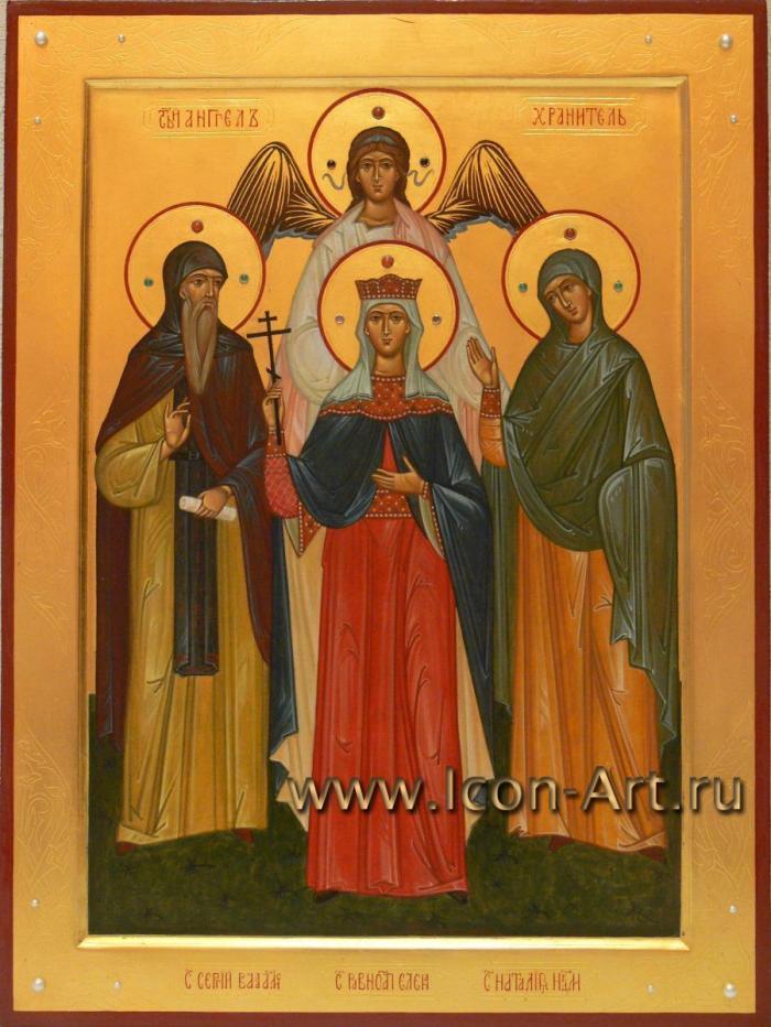 Семейная икона. Semejjnaja_ikona._Svjatojj_prepodobnyjj_Sergijj_Valaamskijj_svja