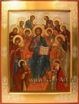 Святые покровители семьи. Семейная икона со Христом Вседержителем.