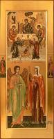 Святая мц. Татиана Римская, святой Ангел Хранитель. Гостеприимство Авраама. На полях иконы святой Виталий Римлянин и святая Тамара Грузинская.