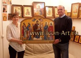 Икона Пресвятой Богородицы «Домостроительница» с предстоящими святыми (Фото)