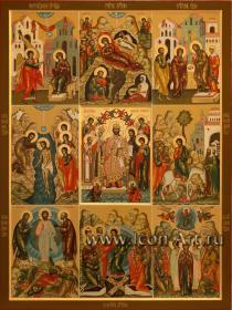 Икона с двунадесятыми праздниками