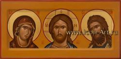 Домашний иконостас (Триптих) Спаситель, Богородица, Предтеча