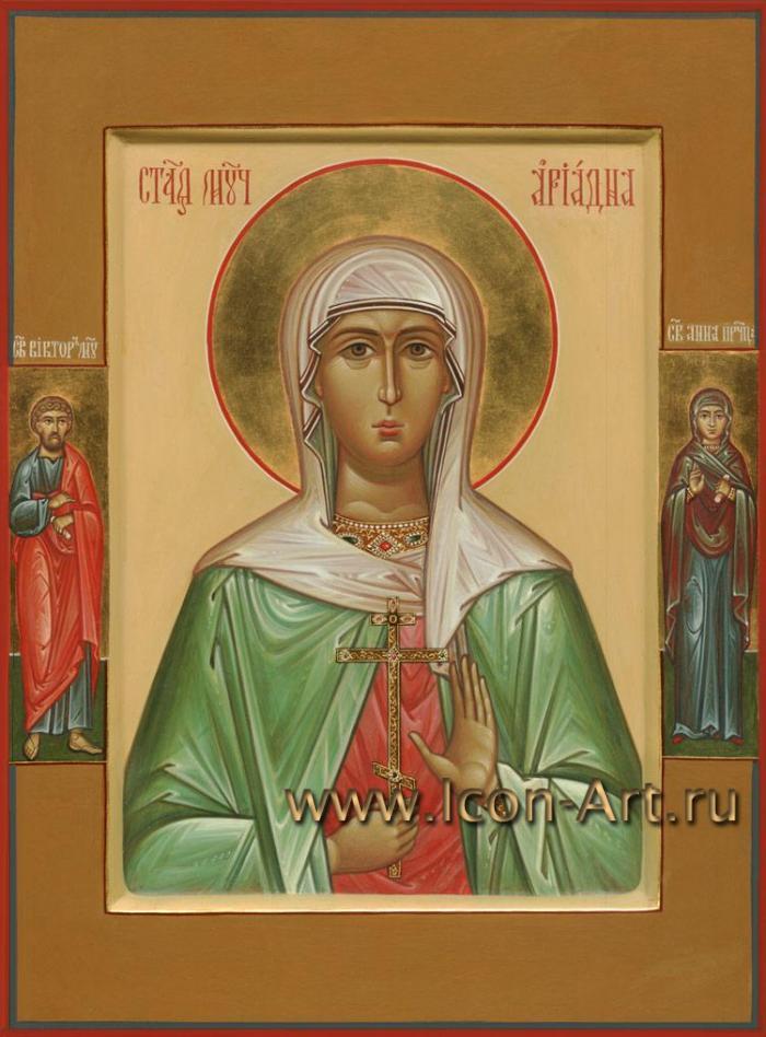 Виктор и святая Анна пророчица. Икона ...: www.icon-art.ru/icons/info/830/Svjataja_much._Ariadna_Promisskaja...