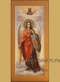 Рукописная Икона святого Архангела Михаила 25*53см