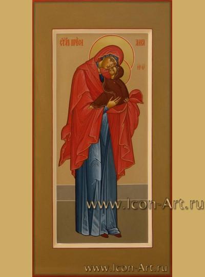 Рукописная Икона святой Анны, матери Пресвятой Богородицы 17*33см