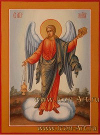 Рукописная Икона святого Ангела Хранителя 15*20см