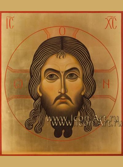 Рукописная  икона Нерукотворный образ Господа нашего Иисуса Христа 29,5*34,5 см