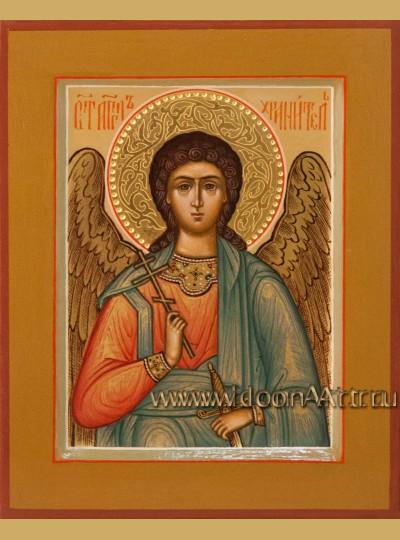 Рукописная Икона святого Ангела Хранителя 10,5*13см