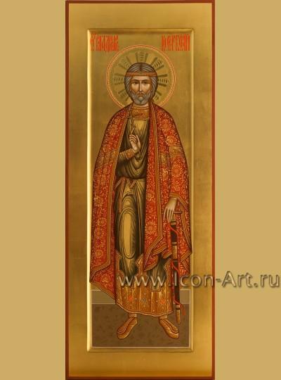 Рукописная мерная икона святого князя Владислава Сербского