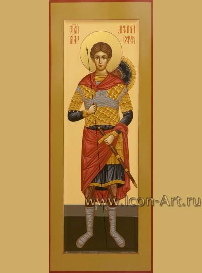 Рукописная мерная икона святого Дмитрия Солунского