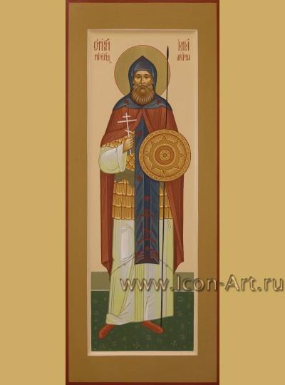 Рукописная мерная икона святого Илии Муромского