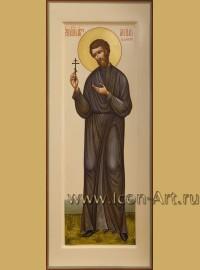 Рукописная мерная икона святого Василия Валаамского