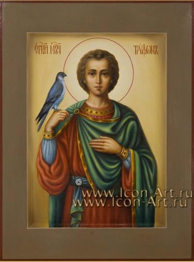 Рукописная Икона святого мученика Трифона 21*28см