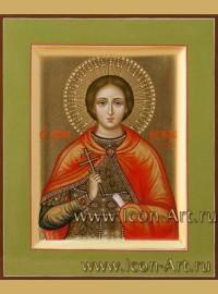 Рукописная Икона святого мученика Александра Римского 10,5*13см