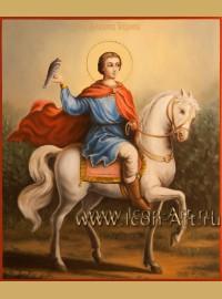 Рукописная Икона святого мученика Трифона 21*25см