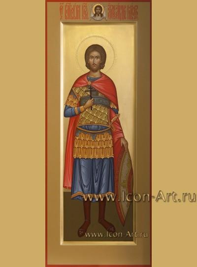 Рукописная мерная Икона святого Александра Невского