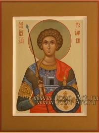 Рукописная Икона святого Георгия Победоносца 15*20см