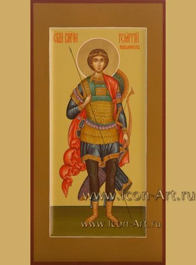 Рукописная Икона святого Георгия Победоносца 17*33см