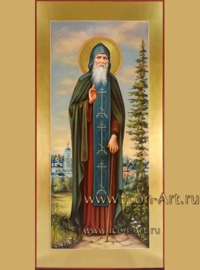 Рукописная мерная Икона святого преподобного Амвросия Оптинского