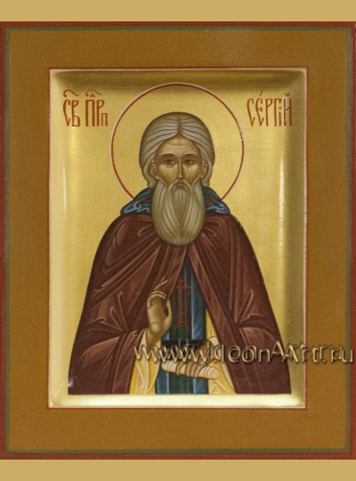 Рукописная Икона преподобного Сергия Радонежского 10,5*13см