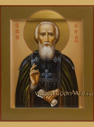 Рукописная Икона преподобного Сергия Радонежского 17*21см