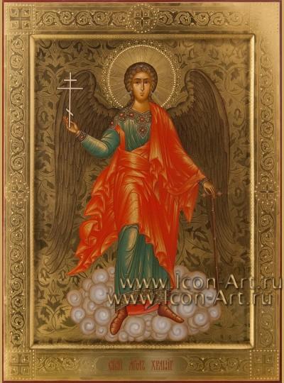 Рукописная Икона святого Ангела Хранителя 30*40см