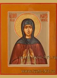 Рукописная Икона святой Марии Радонежской 10,5*13см