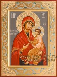 Рукописная икона Пресвятой Богородицы Скоропослушница 15*20 см
