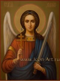 Рукописная Икона святого Ангела Хранителя 21*28