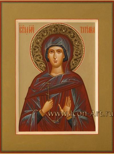 Рукописная Икона Мученицы Татианы 21*28см