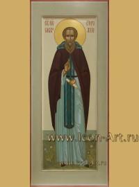 Рукописная мерная Икона святого преподобного Сыввы Сторожевского