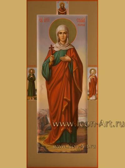 Рукописная мерная Икона святой Софии Римской
