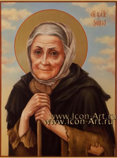 Рукописная икона святой Ксении Петербуржской 21*28 см