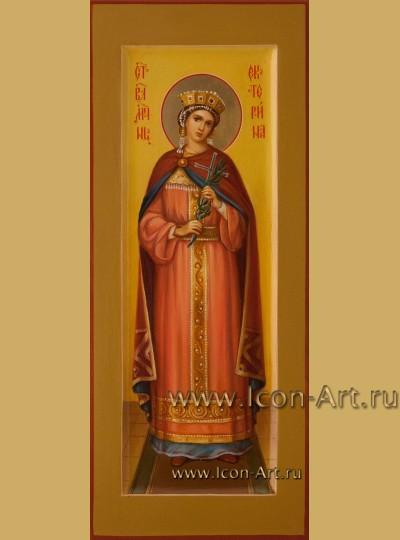 Рукописная Икона Святой Великомученицы Екатерины 10,5*25см