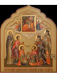 Рукописная икона Святых Целителей