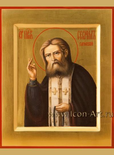 Рукописная Икона святого Серафима Саровского 17*21 см