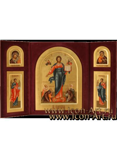 Домашний Иконостас с рукописными иконами в футляре