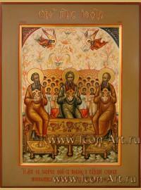 Рукописная Икона Лоно Авраамово (святых Праотец) 21*28 см
