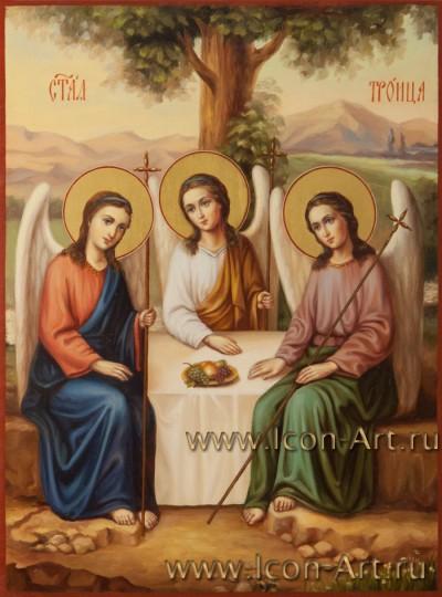 Рукописная Икона Пресвятой Троицы 21*28см