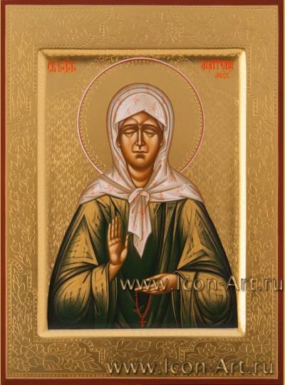 Рукописная Икона святой блаженной Матроны Московской