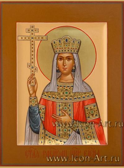 Рукописная Икона святой Елены Константинопольской 15*20см
