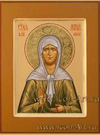 Рукописная Икона святой блаженной Матроны Московской 15*20см
