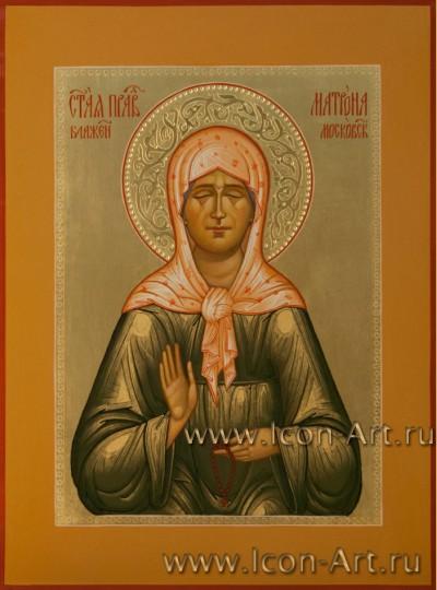 Рукописная Икона святой блаженной Матроны Московской 21*28см