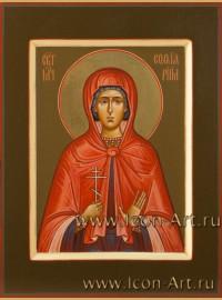 Рукописная Икона святой Софии Римской 15*20см