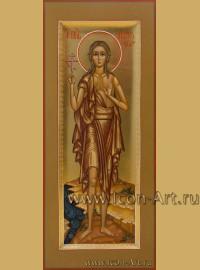 Рукописная Икона святой Марии Египетской 10,5*25см