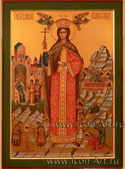 Рукописная Икона Святой Великомученицы Екатерины 50*70см
