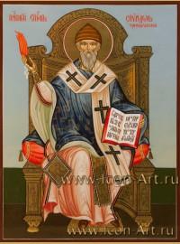 Рукописная Икона Святителя Спиридона Тримифунтского 15*20см