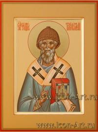 Рукописная Икона Святителя Спиридона Тримифунтского 21*28см