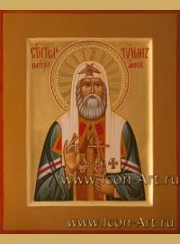 Рукописная Икона святого Тихона патриарха Московского 17*21см