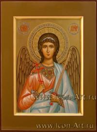 Рукописная Икона святого Ангела Хранителя
